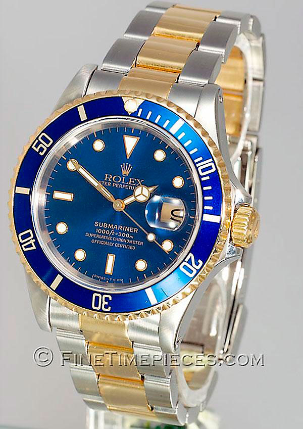 rolex submariner date stahl gold ref 16613 uhren fan de. Black Bedroom Furniture Sets. Home Design Ideas