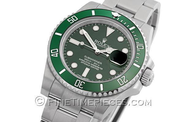 Rolex Submariner Date Grün Silber