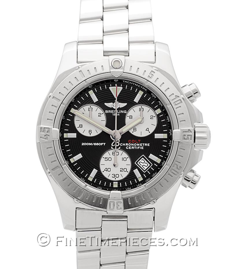 breitling colt chronograph quarz ref a73380 018 finetimepieces com. Black Bedroom Furniture Sets. Home Design Ideas