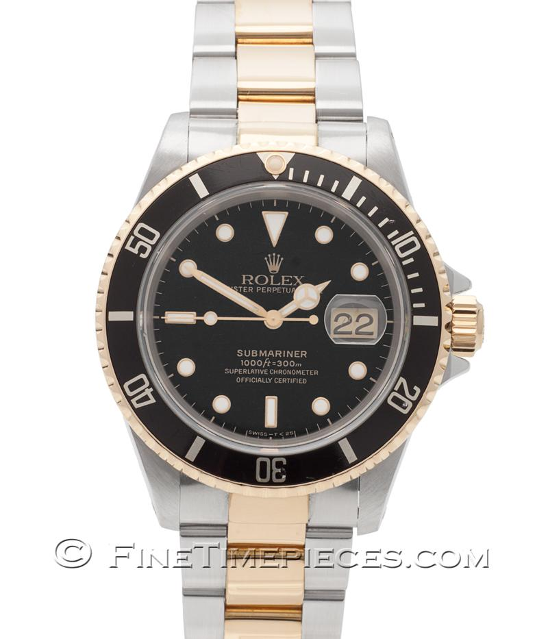 rolex submariner date stahl gold lc 100 ref 16613. Black Bedroom Furniture Sets. Home Design Ideas