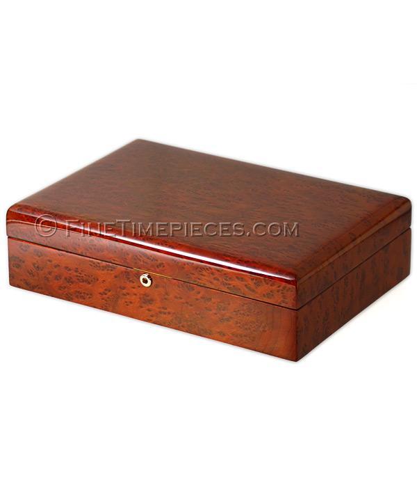 uhrenbox f r 8 uhren edles california redwood holz lederausstattung ref l23b33h9 8 rw. Black Bedroom Furniture Sets. Home Design Ideas