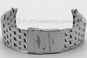 BREITLING   Stahlband für Navitimer World mit 24 mm Anstoßbreite