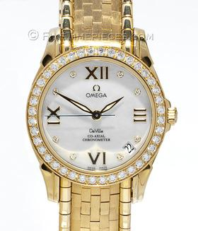 OMEGA | De Ville Co-Axial Gelbgold mit Brillanten Damenuhr | Ref. 4186.75.00