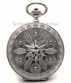 IWC   Taschenuhr Scarabaeus Fuchs Savonette 925er Silber   Ref. 5420