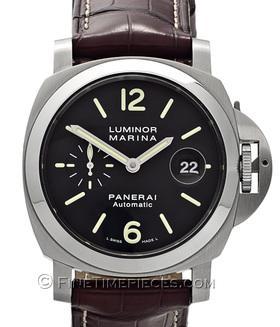OFFICINE PANERAI | Luminor Marina Automatic 44 mm mit Lederband | Ref. PAM 299