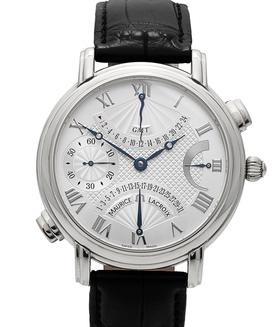 MAURICE LACROIX | Masterpiece Double Retrograde GMT | Ref. MP7018-SS001-110