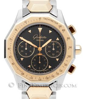 GLASHÜTTE ORIGINAL | Sport Chronograph Senior Stahl-Gold | Ref. 10-66-16-11-04