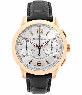 MAURICE LACROIX | Masterpiece Le Chronographe 18 kt. Rotgold / Roségold Limitiert | Ref. MP7008-PG101-1