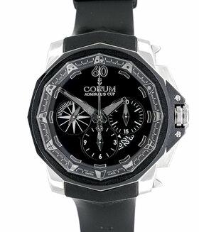 CORUM | Admirals Cup Chronograph 48 Black Titan Limitiert | Ref. 753.935.06/0371AN52