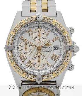 BREITLING | Crosswind Stahl/Gold mit Diamanten und Modulhilfsuhr | Ref. B13355