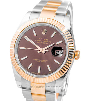 ROLEX | Oyster Perpetual Datejust 41 Stahl Roségold Everose LC 100 | Ref. 126331