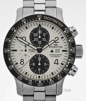 FORTIS | B-42 Stratoliner Chronograph white | Ref. 665.10.12M