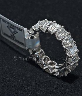 BRILLANTRING | Platin mit Emerald Diamanten 9,5 Karat