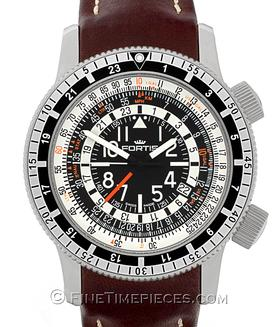 FORTIS | B-47 Calculator GMT 3 Time Zones | Ref. 666.10.11L