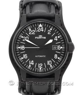 FORTIS | Flieger Black Automatic 24 h LIMITIERT | Ref. 596.18.41L