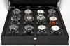UHRENBOX   für 12 Uhren Eschenholz Mattschwarz   Ref. L33B32H8-12 S - Abbildung 2